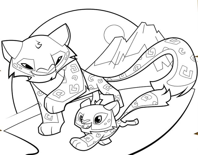 animal jam coloring pages jamaalidays - photo#15