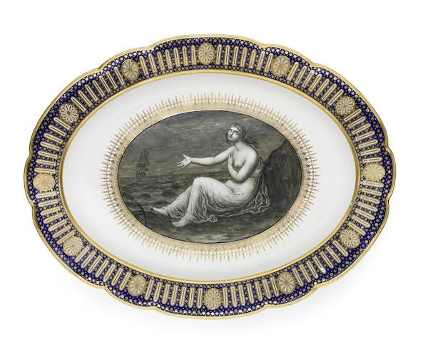 1790 Made for the Duke of Clarence, the centre finely painted in monochrome
