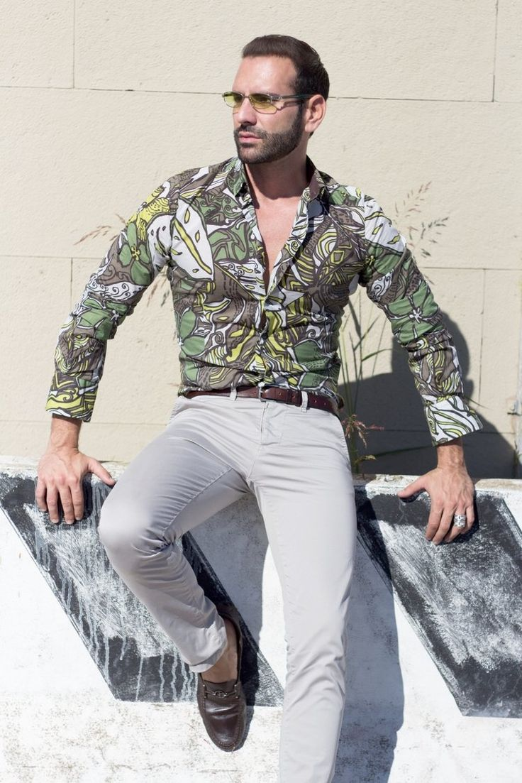 Stefano Zulian with Karl Mommoo shirt lifestyle male style
