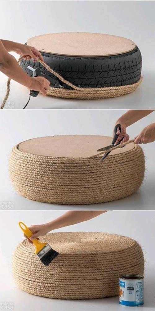 ☼ Qué hacer con un viejo neumático ¡ideas para reciclar decorando! ☼ 3