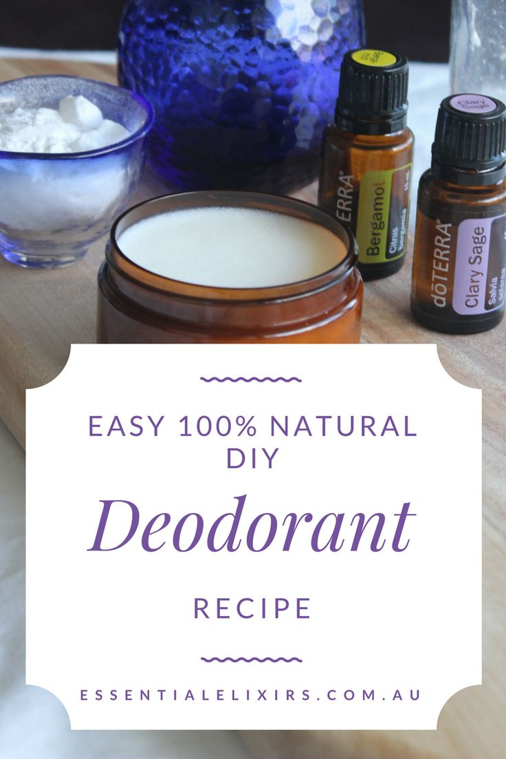 Easy natural DIY deodorant recipe There was a time not so long ago that I would spray and spritz perfumes, deodorants, and pretty smelling scents until my heart was content. I'd never dare to leave the house any other way. I wouldn't feel fully dressed until I did. Then one day a wise friend opened my