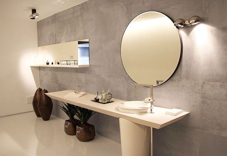 Este lavabo com conceito minimalista tem composto por for Lavabo minimalista
