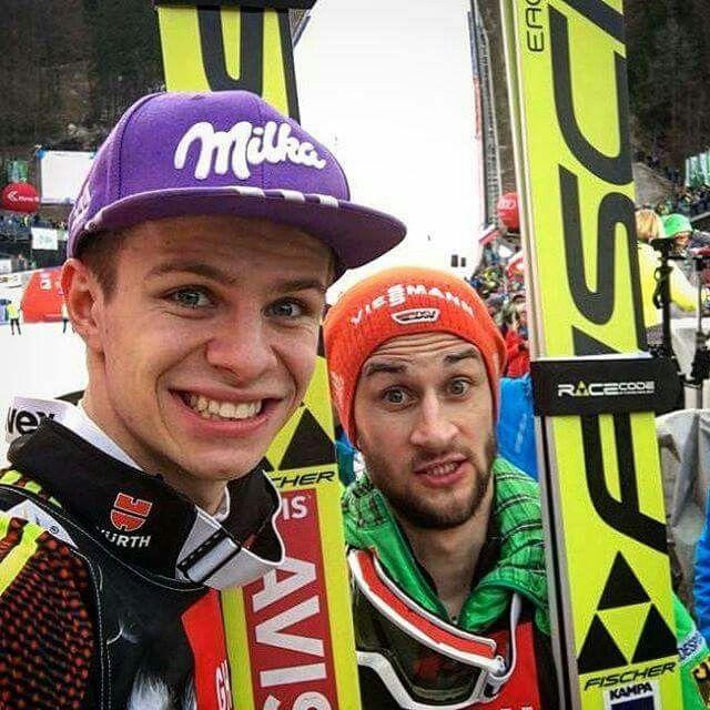 Skifliegen in Planica am 24.3.17- mit Andreas Wellinger und Markus Eisenbichler sind zwei Deutsche auf dem Podium