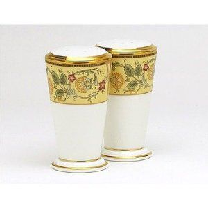 Noritake Golden Pageantry Salt & Pepper Shakers by Noritake CO., INC.. $85.00. Dishwasher Safe. Bone China. World Famous Noritake Quality, Value and Design.. Golden Pageantry Salt & Pepper Shakers. Elegant Dining. Since 1904, Noritake has been bringing beauty and quality to dinner tables around the world. Superior artistry and craftsmanship, attention to detail and uncompromising commitment to quality have made Noritake an international trademark during this pas...
