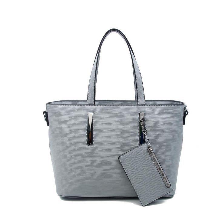 OBC Damen Business Tasche Shopper Workbag Schultertasche Umhängetasche Handtasche Henkeltasche Grau
