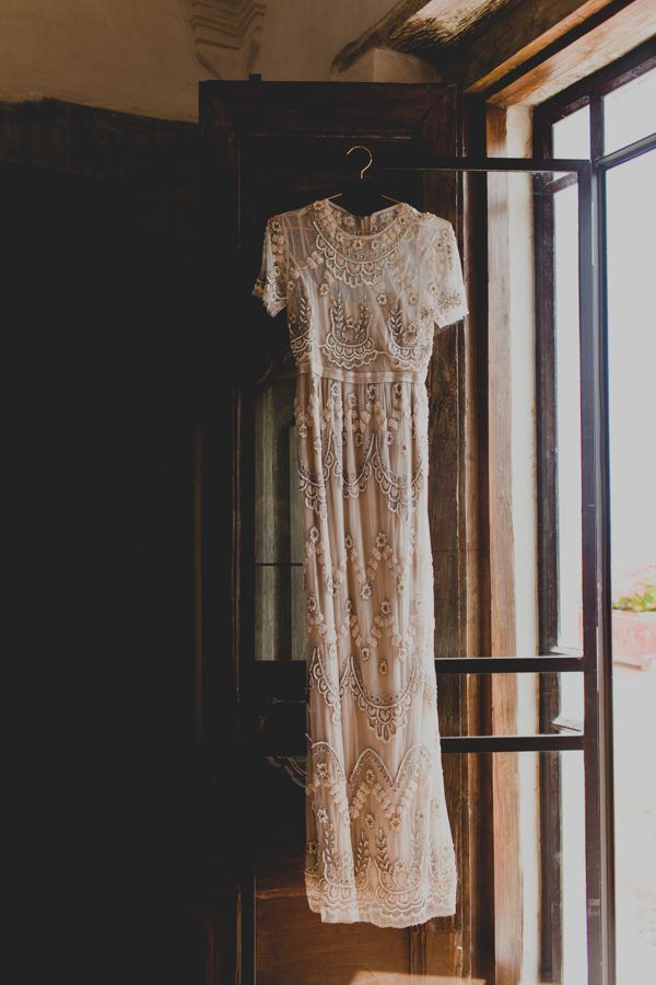 This beaded Needle & Thread wedding gown is everything | Image by Kelly Rae Stewart Photography