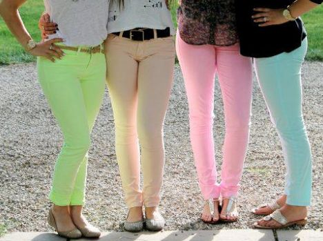 pastel jeans!!