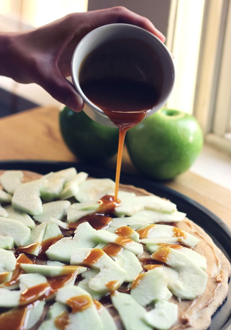 Caramel Apple Pizza-  got this recipe originally from pampered chef. Amazing. Made for mops next year?