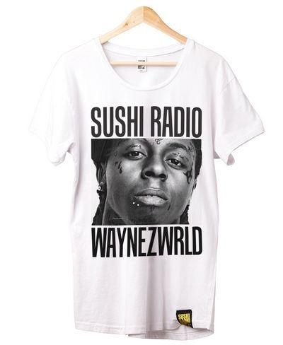 Sushi Radio Waynz World Tee (White) $79.95    Limited Release 1 of 40.