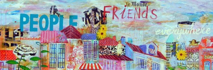 Friends Everywhere - http://www.contemporary-artists.co.uk/paintings/friends-everywhere-2/