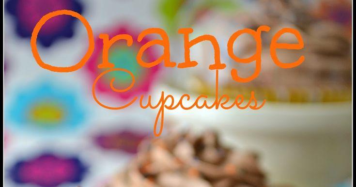 Cupcakes de naranja, buttercream de Nocilla, rellenos de bombones Lindor