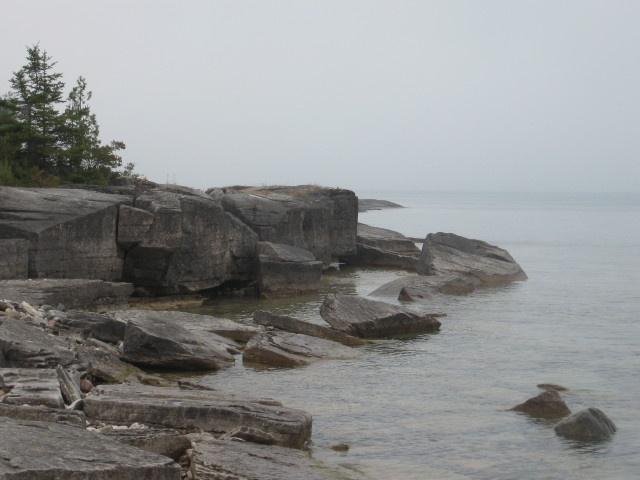 A foggy day at Providence Bay
