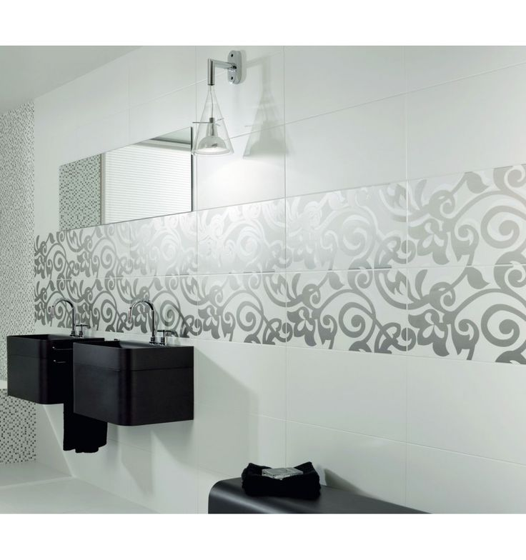 Klassiskt - Kakelmonster | Dekoration Living Vit 30x60