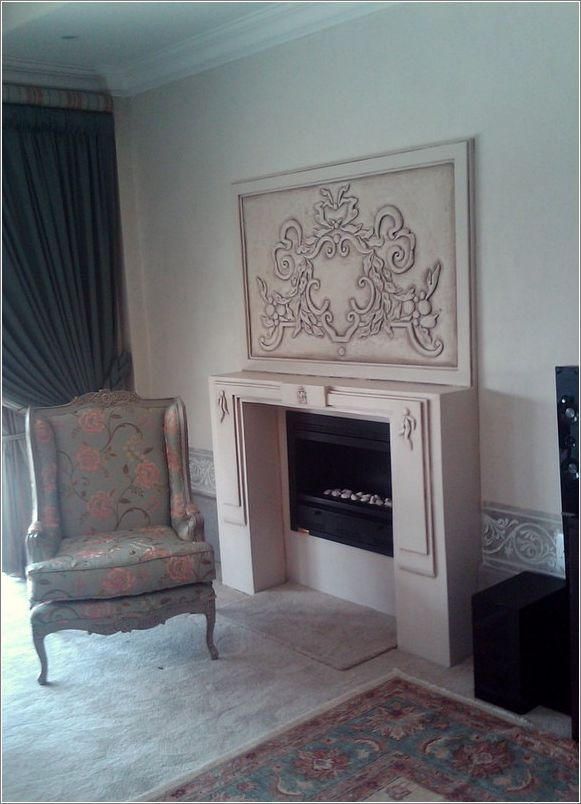 Love the wingback, in embroidered silk fabric, in this setting