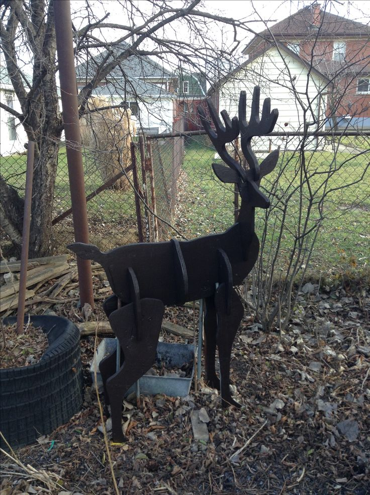 Reindeer made with off cuts of plywood