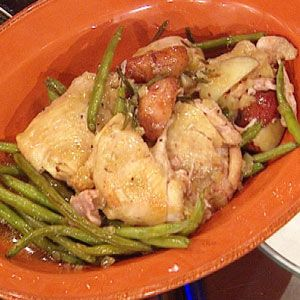 Erin Chase's Slow Cooker Rosemary Chicken with Red Potatoes and Green Beans #slowcooker #whatsfordinner #chickendinner