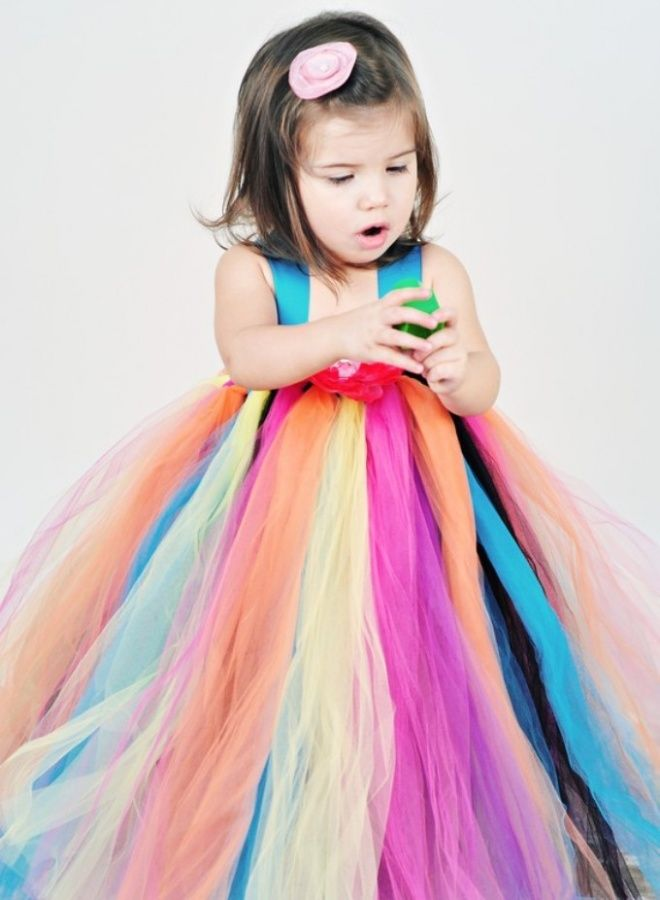 Gorgeous Rainbow Kids Clothing. too cute, I just LOVE all the tulle