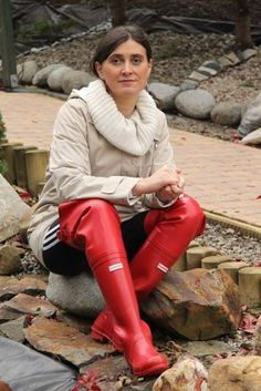 Red Rubber Waders Boots En Waders Pinterest Red