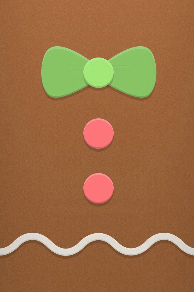 CHRISTMAS GINGERBREAD IPHONE WALLPAPER BACKGROUND