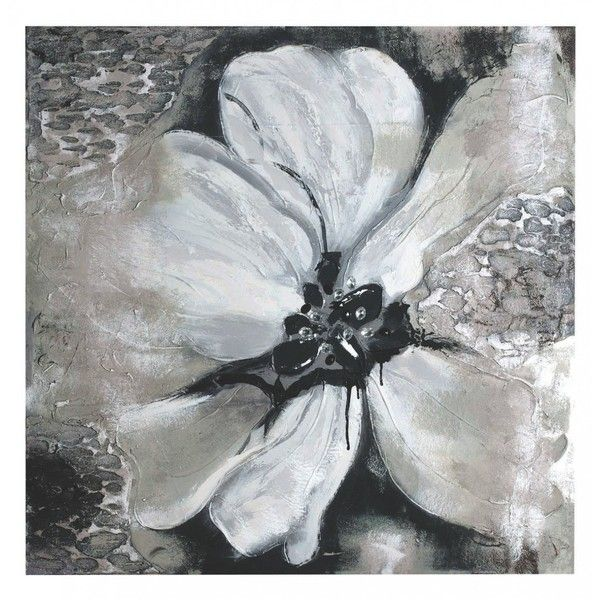 Charcoal Bloom Canvas (810 ILS) ❤ liked on Polyvore featuring home, home decor, wall art, backgrounds, art, paintings, blossom painting, abstract painting, floral canvas wall art and flower canvas painting