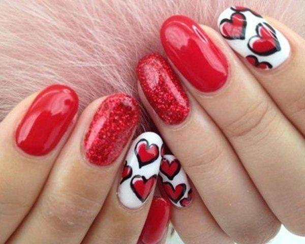 esmaltes san valentin #uñaspintadas #uñasrojas #pintaruñas