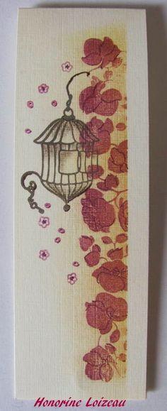 tampon orchidees et decor japonais