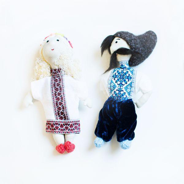 Image of Paire de poupées en tissu