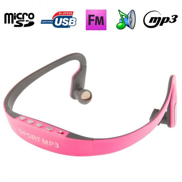 Casque sport lecteur audio MP3 sans fil Radio FM Running Micro SD Rose. http://www.yonis-shop.com/casque-sport/2142-casque-sport-lecteur-audio-mp3-sans-fil-radio-fm-running-micro-sd-rose.html