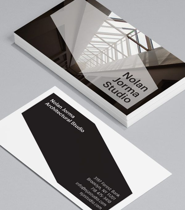 Studio Style: Business Cards are the perfect choice for architects who want to convey big ideas in a small space. #moocards #businesscard