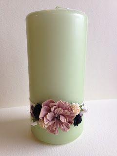 Randis hobbyverden: Grönt lys med brune blomster