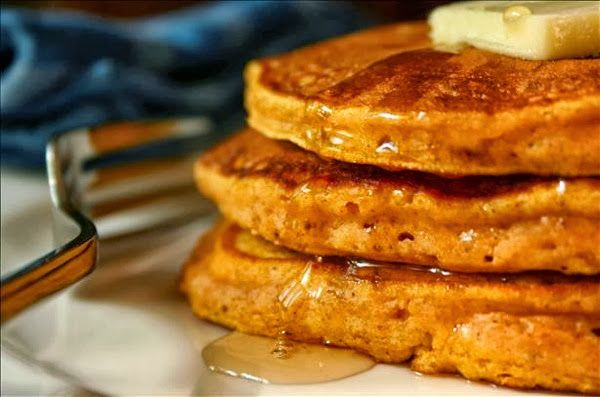 Low carb pumpkin pancakes. From George Stella