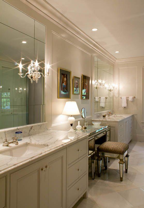 An Atlanta European Painted White Bath. ARCHITECT: Brad E. Heppner  Architecture. Cabinet CompaniesBathsAtlantaArchitects