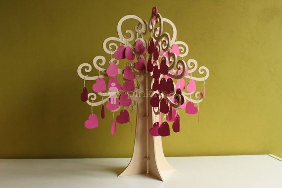 Wedding Wish Tree/ Guest Book will be a nice memory of your Big Day.  The tree is supplied with 100 pieces of hearts with string in color on request