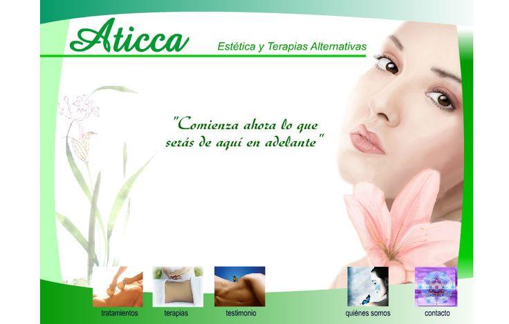 Sitio web desarrollado para Spa Aticca