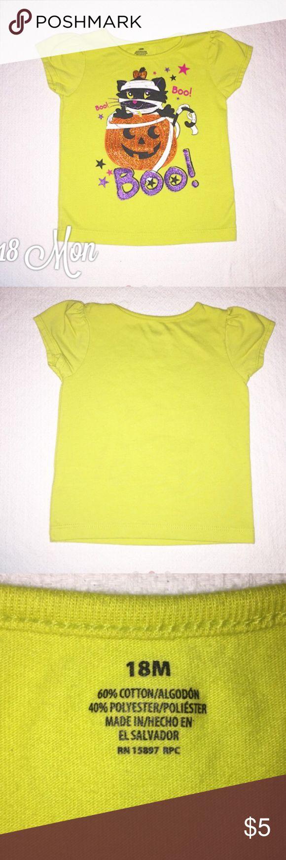 Lime Green Halloween Cat T Shirt 18 Months Very gently worn Lime Green Halloween Cat T Shirt 18 Months Shirts & Tops Tees - Short Sleeve