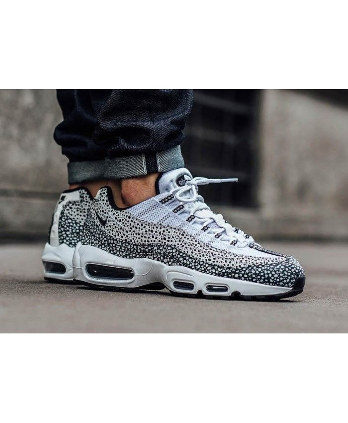 timeless design fdd84 db3db Nike Air Max 95 Grey White Leopard Trainers