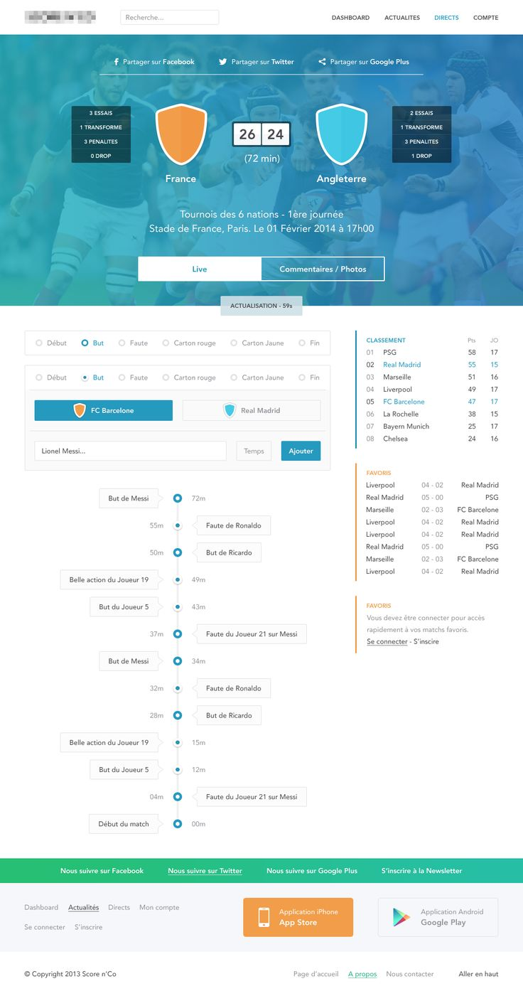 Rugby match page by Alexandre Naud