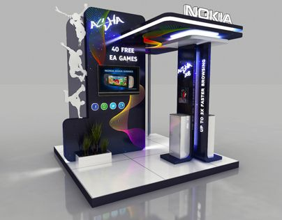 """Check out this @Behance project: """"Nokia - Asha Booth -"""" https://www.behance.net/gallery/5220855/Nokia-Asha-Booth-"""