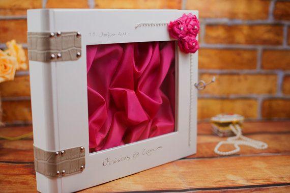 Wedding Stefana Case  White with Fuchsia Roses by LenaWeddings