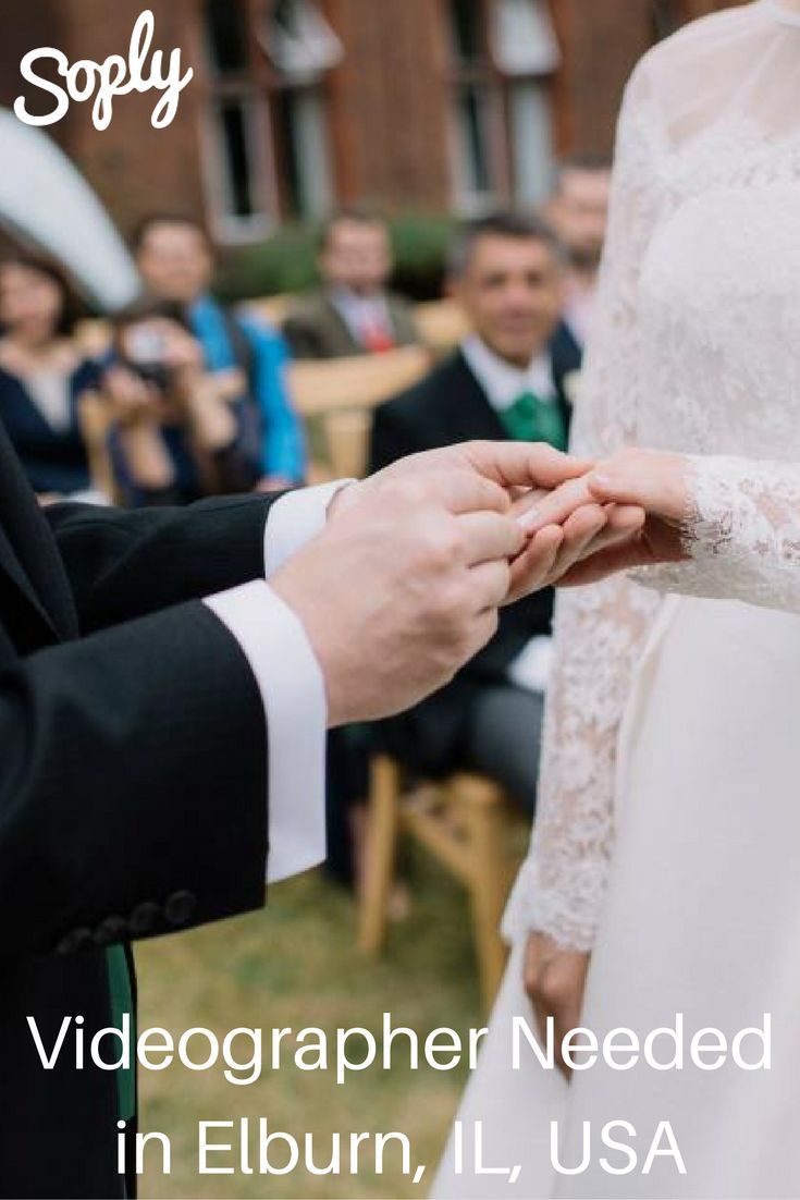 #Videographer needed to #create a #cinematic #wedding #video in Elburn, Illinois, USA. See the video job and apply by clicking the pin!