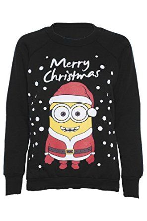 Womens Novelty Christmas Minion/Olaf Print Sweatshirt Jumper. Comes in many colors.