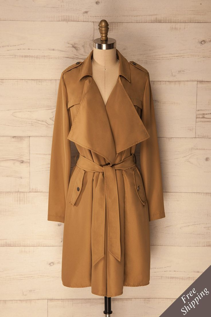 Paington Camel - Beige classic trench coat www.1861.ca