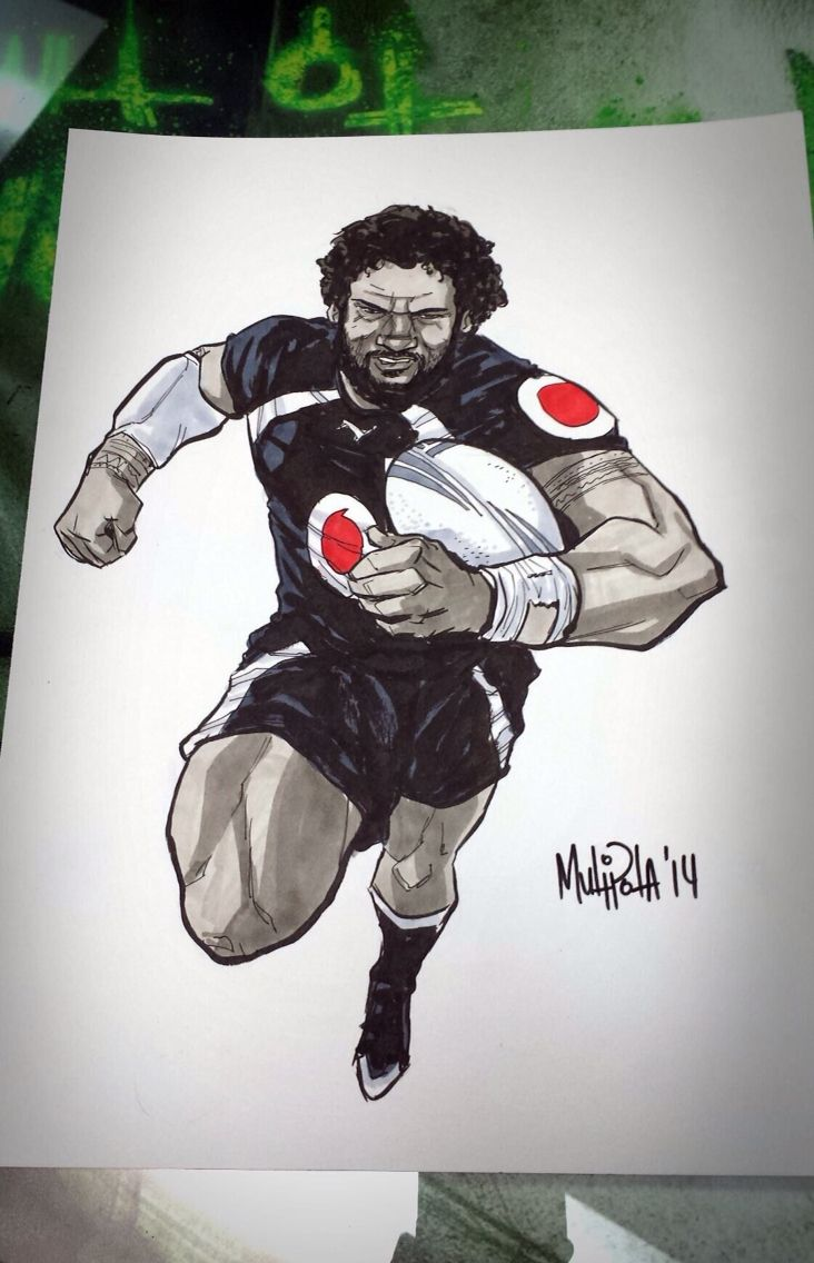 Ruben Wiki #rubenwiki #art #drawing #illustration #comic #warriors #WarriorsForever #rugbyleague