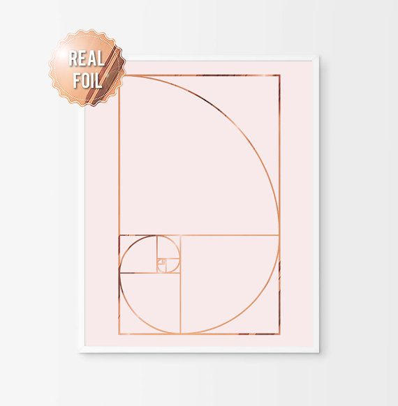 Espiral de Fibonacci  hoja de cobre grabado  por AKAFoils en Etsy