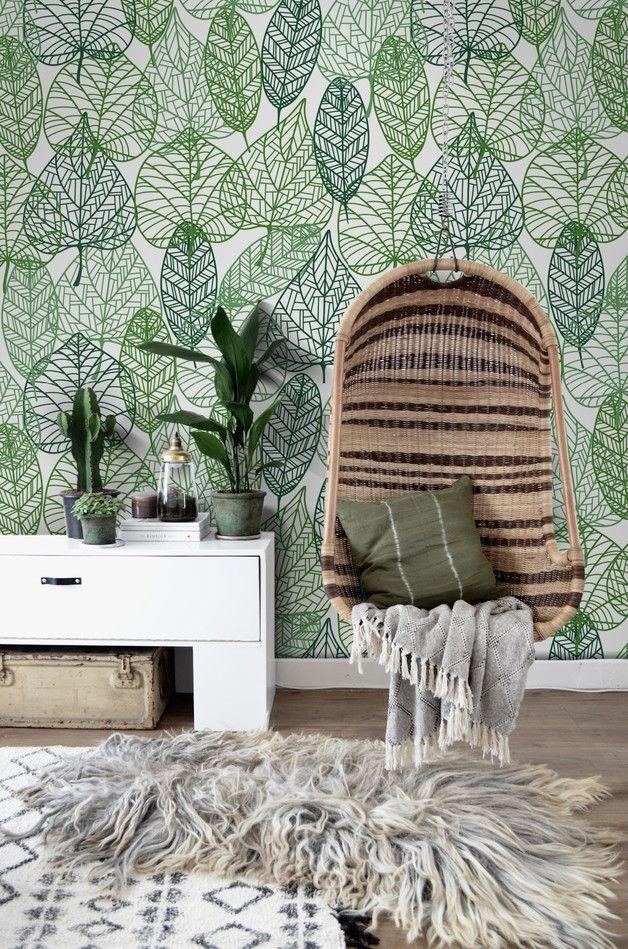 Papel pintado - Hoja papel tapiz removible patrón | Fotomural - hecho a mano por coloray en DaWanda