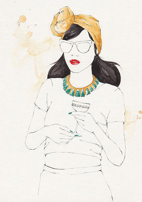 Emma Leonard is an illustrator based in Melbourne. She draws beautiful artworks of beautiful ladies with wonderful attention to detail. Her work is usually dabs of colour standing out of her fine-lined pencil work. From the intricacies of flower petals, to each strand of hair, Leonard's drawings are superb works of art.