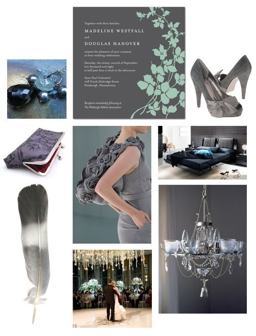 Inspiration Board: Slate Grey and Aqua