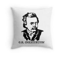 $16.68-$33.37 Throw Pillow G. K. Chesterton, #Gilbert #Keith #Chesterton, #English #writer, #poet, #philosopher, dramatist, #journalist, orator, lay theologian, biographer, and literary and #art #critic