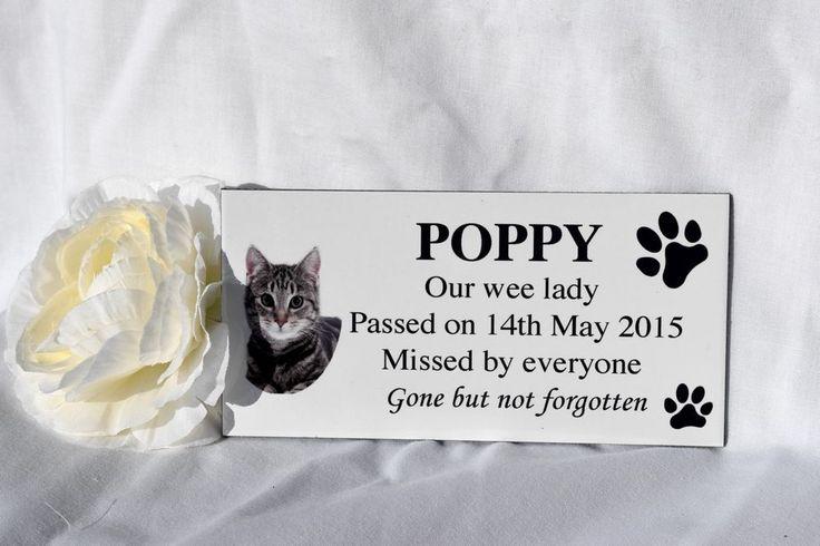 Personalised Pet memorial photo grave plaque sign dog, cat, animal