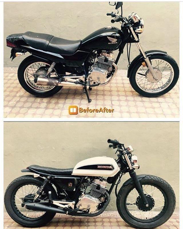 Antes y desp de esta Honda Nighthawk 250cc